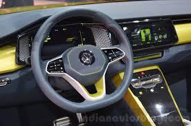 VW T-Cross Breeze concept steering wheel at the Geneva Motor Show ...