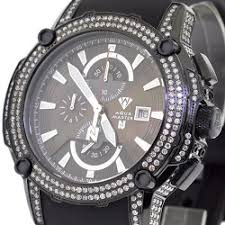 diamond watch aqua master nicky jam 5 00 ct black steel mens diamond watch aqua master nicky jam 5 00 ct black steel