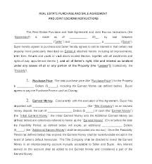 blank real estate purchase agreement basic real estate sales contract template free printable