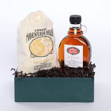 nh maple gift basket with pancake mix