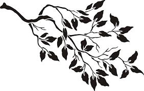 stencil tree branch blk