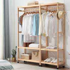 Floor Standing Coat Rack Unique Clothes Rack Home Floor Coat Rack Solid Wood Simple Hanger Bedroom