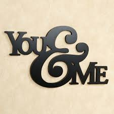 Word Signs Wall Decor you and me word wall art words black colored you and me letter 29