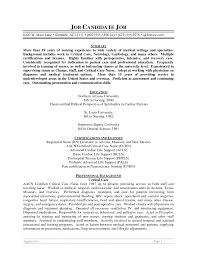 Resume Summary Examples Badak Graduate Registered Nurse 987 Peppapp