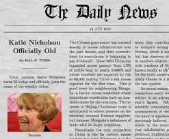 example of a newspaper article funny newspaper generator with your own picture