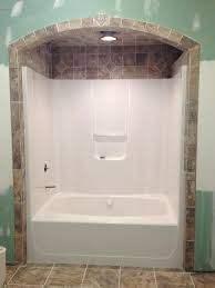 Bathtub enclosure ideas Ceramic Tile Bathtub And Surround Bathtub Like The Idea Of Tile Around And Above Bathroom Tub Wall Tile Bathtub And Surround Architecture Design Bathtub And Surround Update Bathtub Surround Using Bathtub