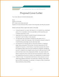 Business Proposal Cover Letter Format