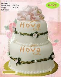 2 Tiers Wedding Cake Pesan Kue Pengantin Putih Manis Toko Dan