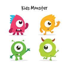 monster images for kids. Modren Monster Kids Monsters Collection Free Vector To Monster Images For