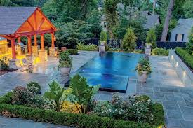 Backyard Pool Landscaping Rectangular Pool Designs And Shapes