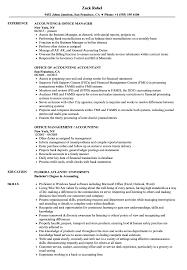 Accounting Office Resume Samples Velvet Jobs