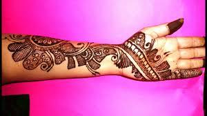 Arabic Mehndi Designs For Right Hand Beautiful Arabic Mehndi Design On Left Hand