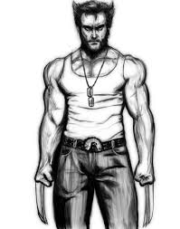 Small Picture Coloring Pages Wolverine Drawing