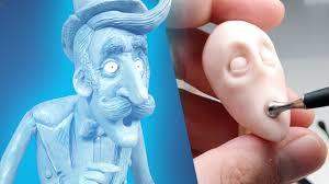 tim burton style character sculpture