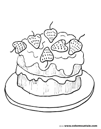 Small Picture Strawberry cake coloring picture Strawberry Coloring Pages