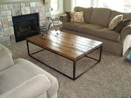 chic wood metal coffee table industrial looking and berwyn round threshold