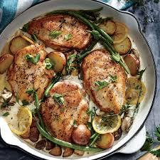 Cooking Light Healthy Weeknight Lemon Chicken Skillet Dinner Recipe Myrecipes