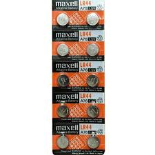 Lr44 Cross Reference Chart Maxell Lr44 A76 Alkaline Button Battery 1 5v 20 Pack Free Shipping