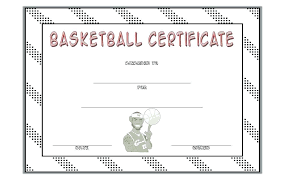 Trend Of Basketball Award Certificate Templates To Print Activity