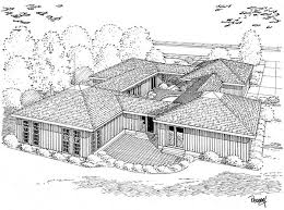 House Plan at FamilyHomePlans comContemporary Ranch House Plan Rear Elevation