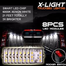 8pc waterproof pickup truck bed light kit led lighting accessories super white