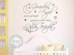nursery wall sticker guardian angel