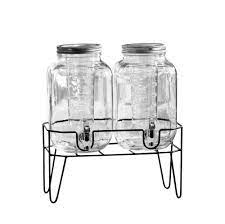 Stylesetter Clifford Glass 2 Gallon Beverage Double Dispenser With Infuser  and Stand - Walmart.com - Walmart.com