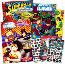 It is definitely for the super hero enthusiast with it's superman inspired super hero image and bright, bold colors! Amazon Com Super Hero Coloring Book Super Set With 3 Superhero Coloring Books 110 Stickers And 26 Temporary Tattoos 3 Superhero Activity Books Featuring Batman Superman Wonder Woman And More Arts Crafts Sewing