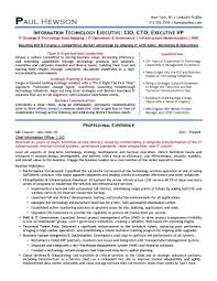 2 resume secrets for the aspiring cio or cto it tech exec 2014 cio resume sample page 1