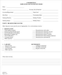 Employee Clearance Form Cool 44 Sample Employee Exit Forms Sample Templates