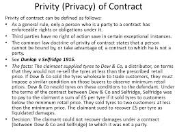 privity privacy of contract ppt privity privacy of contract