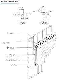 corrugated metal roof flashing details window door trim