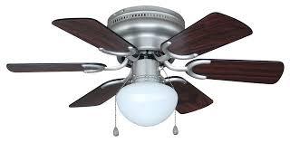 satin nickel 30 hugger ceiling fan with light kit
