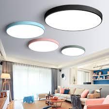 Us 155 Ultradünne Moderne Led Deckenleuchte Runde Einfache Dekoration Leuchten Studie Esszimmer Balkon Schlafzimmer Wohnzimmer Deckenleuchte In