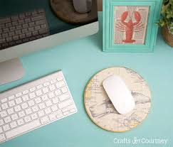make your own mouse pad with sbook paper and cork