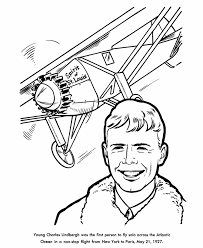 Small Picture USA Printables Charles Lindbergh Coloring Pages Famous