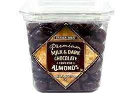 milk dark chocolate almonds