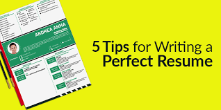 A Perfect Resume 5 Tips For Writing A Perfect Resume Cv