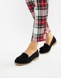 Asos Design Messenger Suede Tassel Loafers Wide Fit Message Suede Tassel Loafers