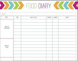 Free Printable Food Log Sheets Weight Watchers Food Log Spreadsheet Journal Template Excel Download