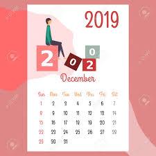 Calendar Design Calendar Design For 2019 Beautiful Calendar Design For 2019