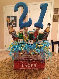 21st birthday idea for guys favorite drinks and color scheme