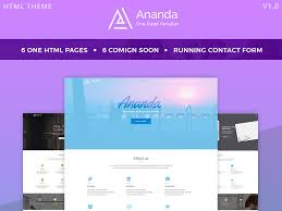 Parallax Website Template Awesome Ananda One Page Parallax Website Template At BootstrapZero