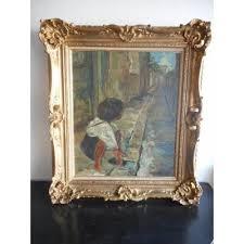 children s painting in rue de montmartre signed time 1940