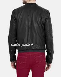 black soft leather overdyed mens leather jacket roll over to zoom in to enlarge