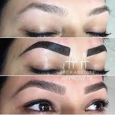 eyebrow contouring. by @archaddicts \u2022 brow tinting its lit eyebrow contouring