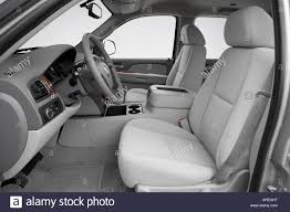 2007 Chevrolet Tahoe LT in Silver - Front seats Stock Photo ...