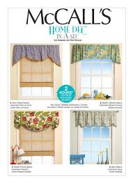 Window Valance Patterns Custom Sewing Pattern For Four Window Valances Patterns McCalls Etsy