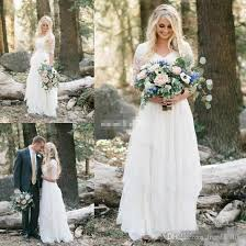 discount 2017 western country bohemian wedding dresses lace