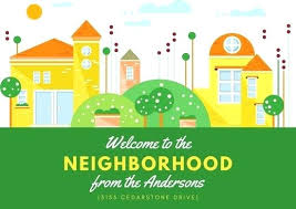 Welcome Card Templates Welcome Cards Printable Home Card To The Neighborhood Template